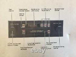 Car Stereo AM FM Cassette SEARS Radio Tuner Tape Player Car Audio Vintage NOS