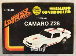 Latrax Vintage Radio Remote Controlled Camaro Z28 Rc Car Yellow and Red