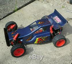 Mardave Meteor Vintage RC Car 1/10 buggy Gold Chassis 1980's Radio Control