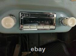 NEW Car Radio Vintage look Becker style PORSCHE 356 AM FM iPod with IVORY Knobs