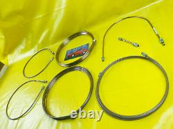 New XXL Complete Set Kunifer Brake Line Vauxhall Calibra With ABS Break Cable
