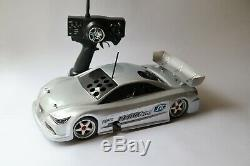 Nice vintage HPI RS 4 Nitro RC car. Complete with new engine and Radio. RARE
