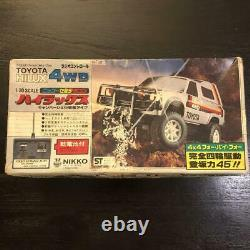 Nikko Radio Control Car Toyota Hilux 4WD Truck Off-Road Vintage From Japan Used