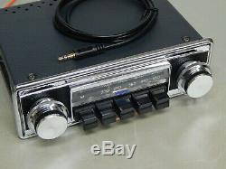 Upgraded vintage classic car radio RADIOMOBILE 1070X aux in and bluetooth