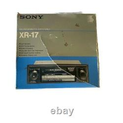 VINTAGE SONY CAR RADIO CASSETTE XR-17 In Mint Condition