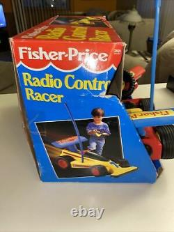 VTG 1992 Fisher Price Radio Control Racer Remote Control Car withBox READ 2093
