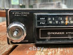 Vintage 1970's Pioneer TP-6001 AM/FM Car Stereo Radio 8 Track Tape Player Works