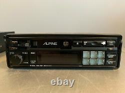 Vintage Alpine Car Stereo 7293 Cassette Player Tape Deck AM/FM Radio PULL-OUT