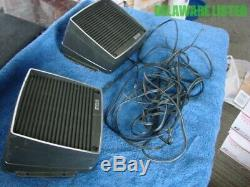 Vintage Car/Truck Radio CB RCA Deck Mount Speakers withWires NOS Pair