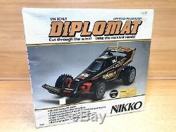 Vintage NIKKO NEW Diplomat 35 RC Radio Controlled Car, Buggy Black 114 Scale