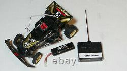 Vintage Radio Shack Golden Arrow Frame Buggy R/C Car with Controller and battery