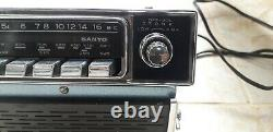 Vintage Sanyo Electric Co. Car Radio Model F-8504n With Removable Speaker
