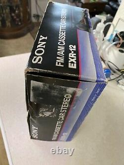 Vintage Sony EXR-12 AM/FM Stereo Cassette Car Shaft Radio New Very Rare Find