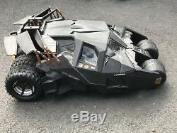 Vintage Tyco 1/6 Scale Dark Knight Batman Batmobile Radio Controlled Over 2ft