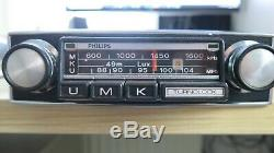 Vintage Upgraded Philips Turnolock Classic Car Radio + iPod/mp3 aux lead fitted