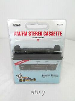 Vtg'80s New NOS Kraco AM/FM Stereo Cassette Car Radio with Auto Stop KID-581